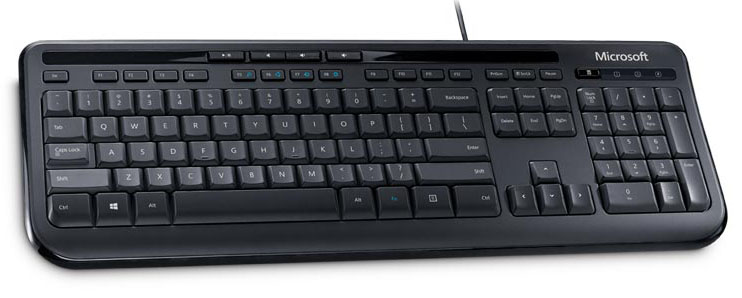 מקלדת חוטית Microsoft Wired Keyboard 600